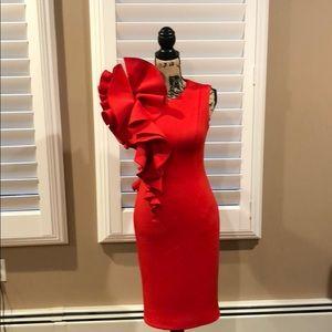 Jovani Red ruffle dress